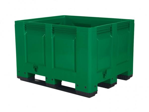 Palletbox - 1200x1000mm - 3 sledes - groen