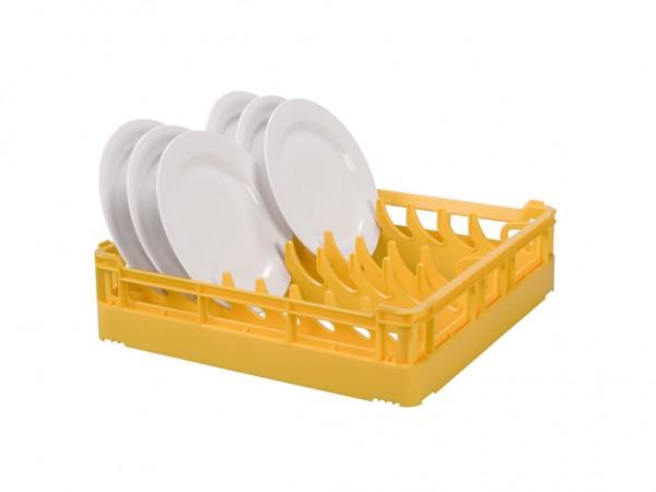 Bordenkorf 500x500mm - voor 15 grote borden - geel