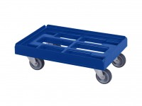 Kunststof dolly - 600x400mm - blauw 52.TR6040.4.H