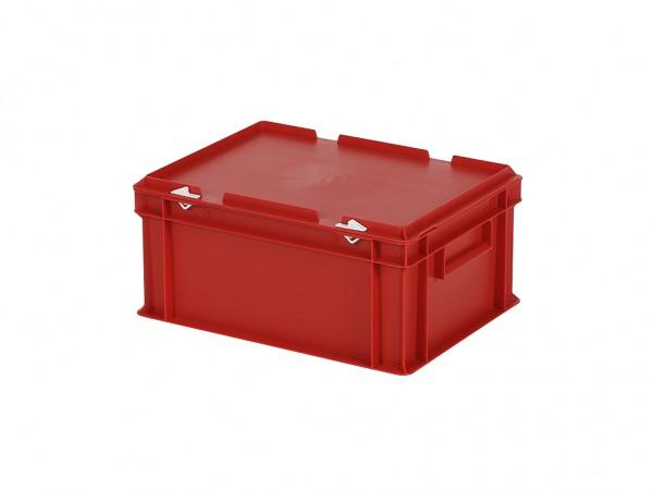 Stapelbak met deksel - 400x300xH190mm - rood