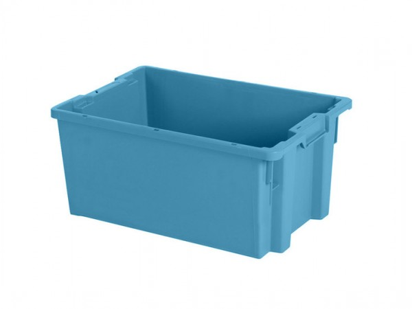 Stapel-nestbare bak - 600x400xH270mm - blauw