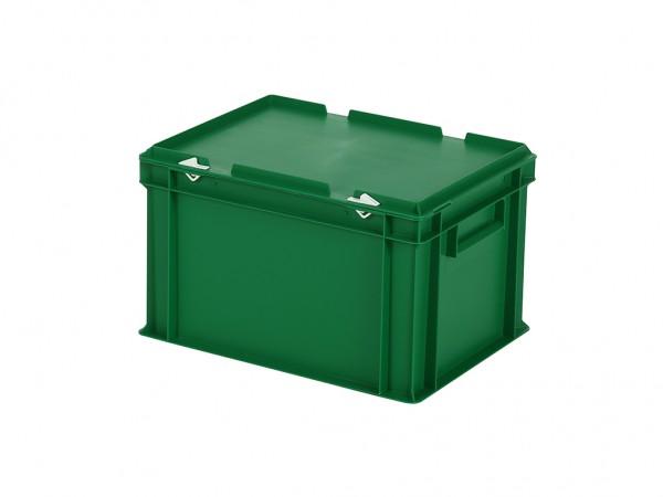 Stapelbak met deksel - 400x300xH250mm - groen