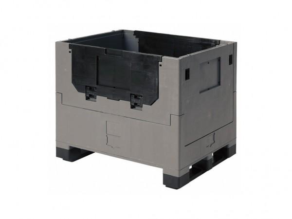 Inklapbare palletbox - 800x600xH680mm - grijs