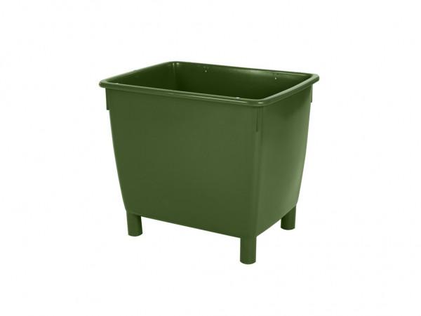 Transportcontainer 210 liter - op 4 poten - groen