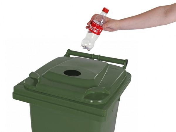 Inzamelcontainer plastic flessen - 120 liter - groen