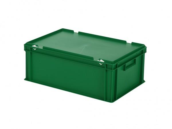Stapelbak met deksel - 600x400xH235mm - groen