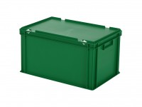 Stapelbak met deksel - 600x400xH335mm - groen