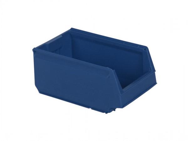 Kunststof magazijnbak - 350x206xH150mm - blauw