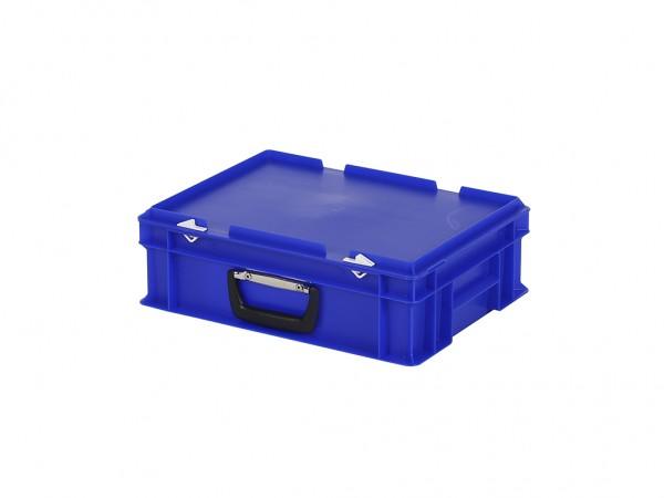 Koffer - 400x300xH133mm - blauw