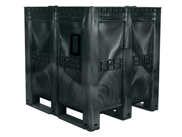 MAXI BOX palletbox - 1300x1150mm - gesloten - zwart