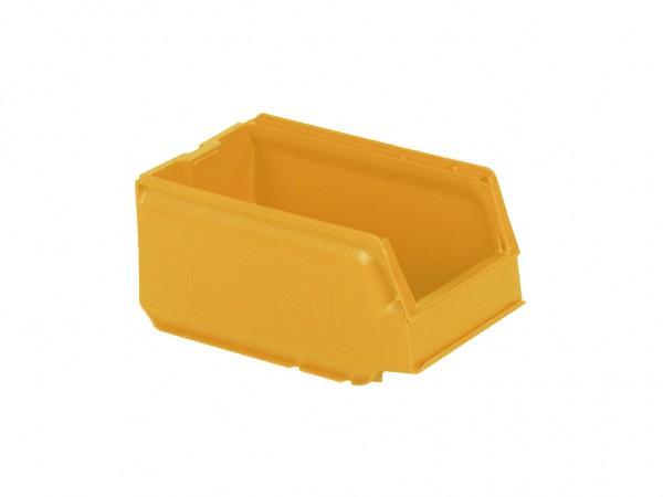 Kunststof magazijnbak - 250x148xH130mm - oranjegeel