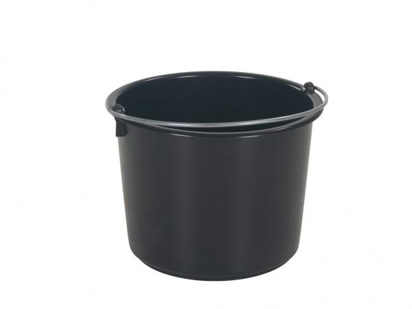 Emmer 20 liter - heavy duty - zwart