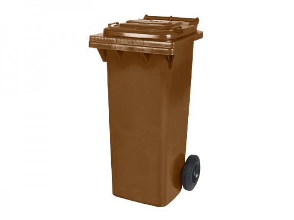 2-wiel afvalcontainer - 80 liter - bruin