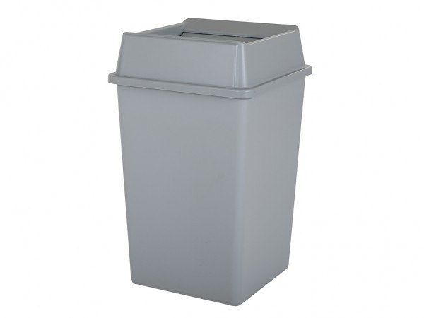 SALE - Afvalbox met deksel - 132 liter - 510x510xH867mm - grijs