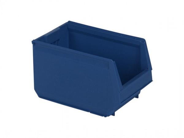 Kunststof magazijnbak - 350x206xH200mm - blauw