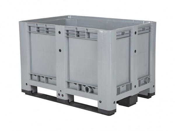Kunststof palletbox - 1200x800xH780mm - 3 sledes - grijs