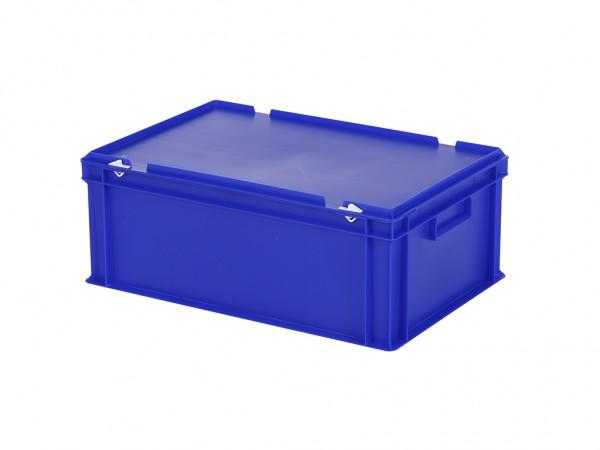 Stapelbak met deksel - 600x400xH235mm - blauw