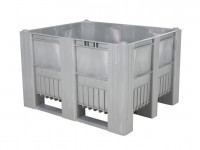 Palletbox - 1200x1000mm - 3 sledes - grijs 83281810