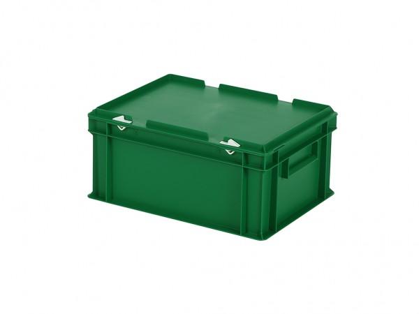 Stapelbak met deksel - 400x300xH190mm - groen