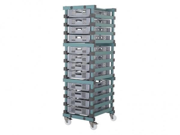 Kunststof bakkenwagen - 12 opnames 600x400mm