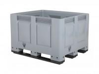Kunststof palletbox - 1200x1000xH790mm - 3 sledes - grijs 4401.300.554