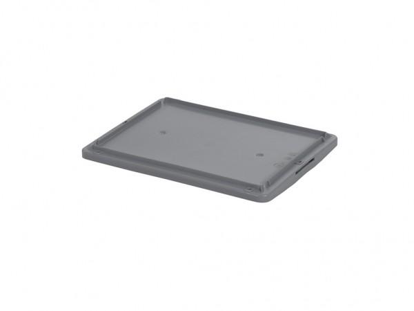 Klemdeksel - 400x300 mm - grijs