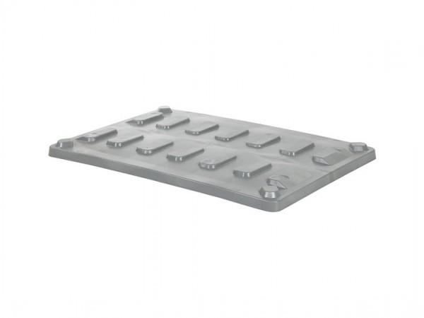 Oplegdeksel 1200x800mm voor CB1 palletboxen - grijs