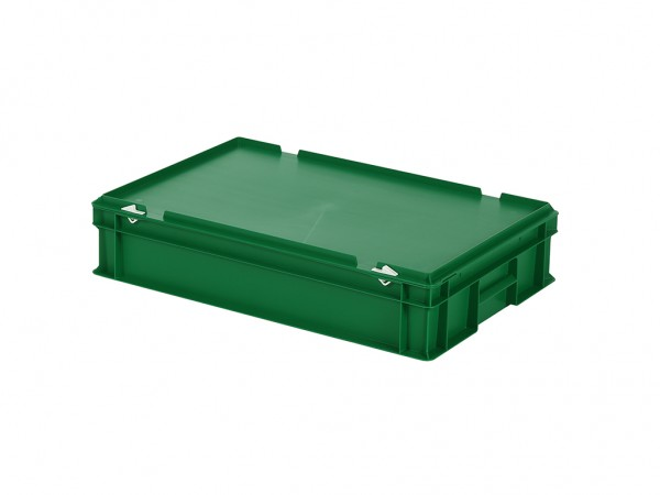 Stapelbak met deksel - 600x400xH135mm - groen