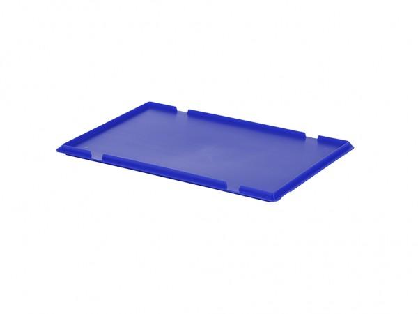 Kunststof oplegdeksel 600x400mm - blauw