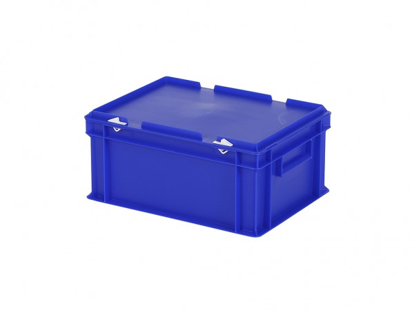 Stapelbak met deksel - 400x300xH190mm - blauw