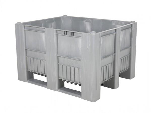 Kunststof palletbox - 1200x1000xH740mm - 3 sledes - grijs