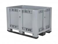 Palletbox - 1200x800mm - 3 sledes - grijs 10.1089.C3T