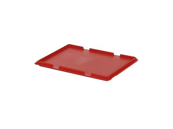 Kunststof scharnierdeksel 400x300mm - rood