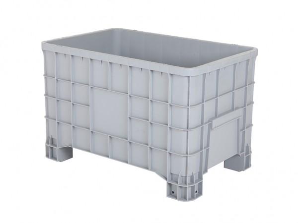 Palletbox - 1000x635mm - op vier poten - grijs
