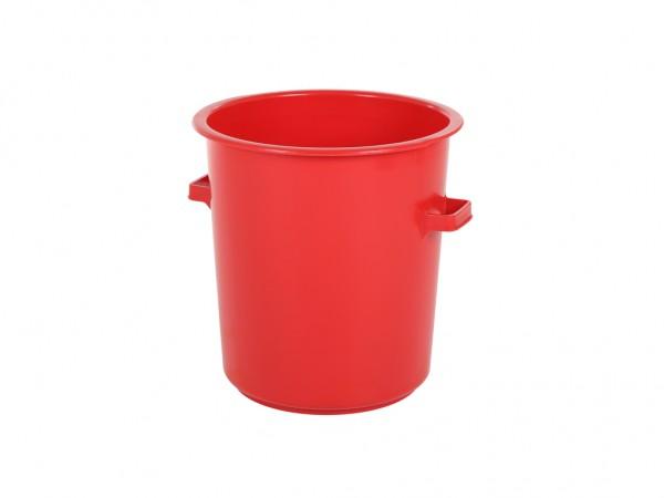 Kunststof ton 75 liter - heavy duty - rood