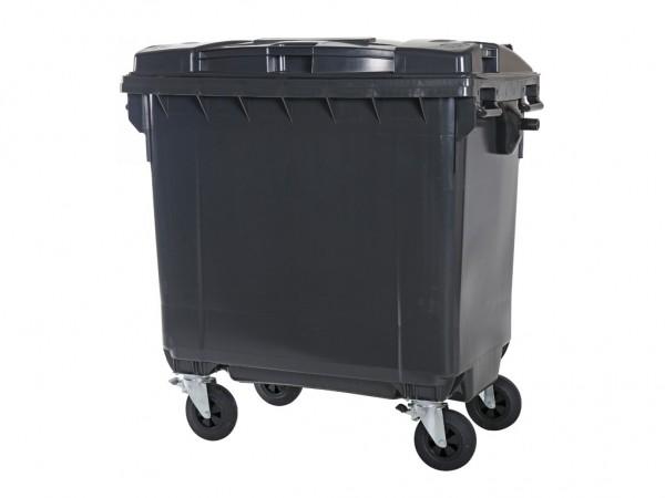 4-wiel afvalcontainer - 770 liter - grijs