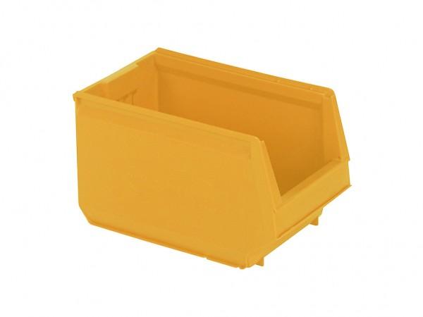 Kunststof magazijnbak - 350x206xH200mm - oranjegeel