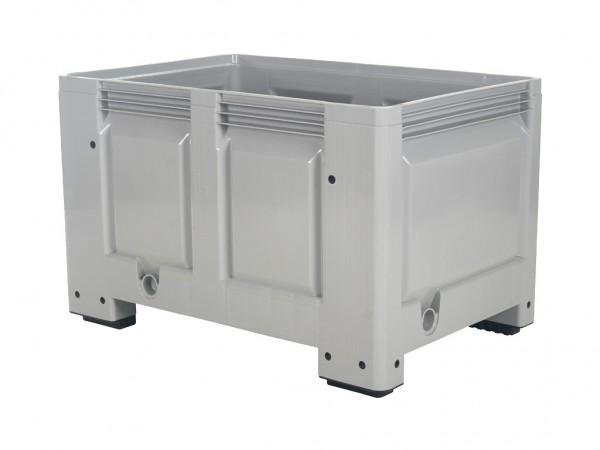 Palletbox - 1200x800mm - op 4 poten - grijs