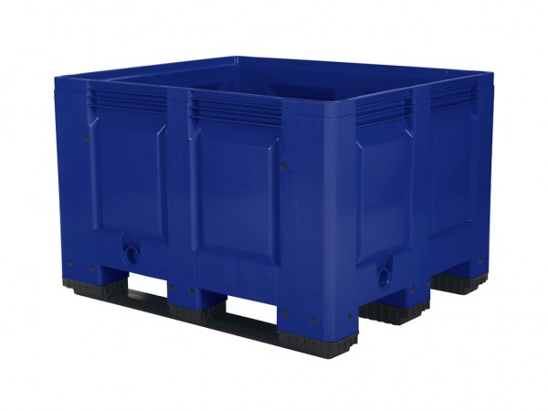 Palletbox - 1200x1000mm - 3 sledes - blauw