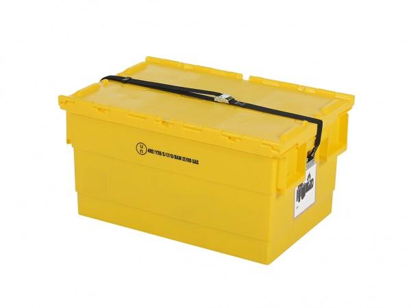 Batterijbox van kunststof - 600 x 400 x H300 mm - geel