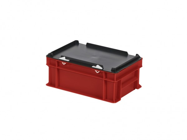 Stapelbak met deksel - 300x200xH133mm - rood