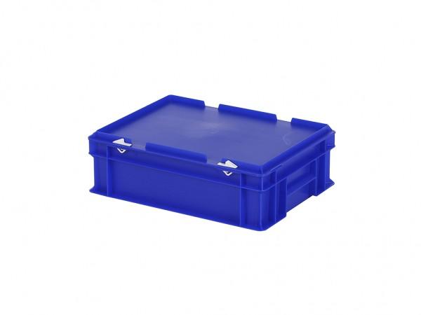Stapelbak met deksel - 400x300xH133mm - blauw