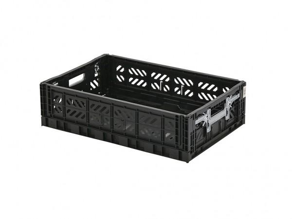 MULTIWAY klapkrat - 600x400xH156mm - zwart - grijze grepen