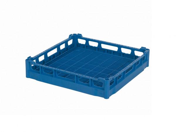 Universeelkorf 500x500mm - binnenhoogte 73mm - blauw