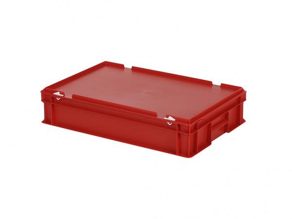 Stapelbak met deksel - 600x400xH135mm - rood