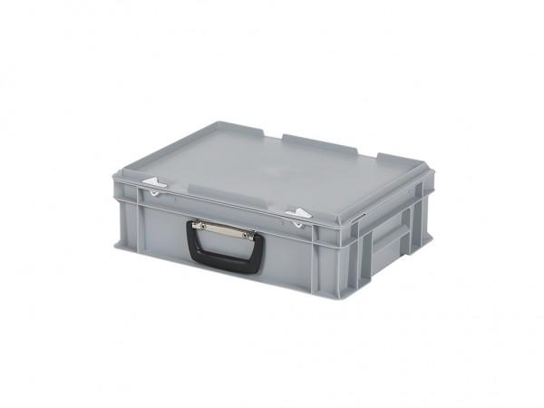 Koffer - 400x300xH133mm - grijs