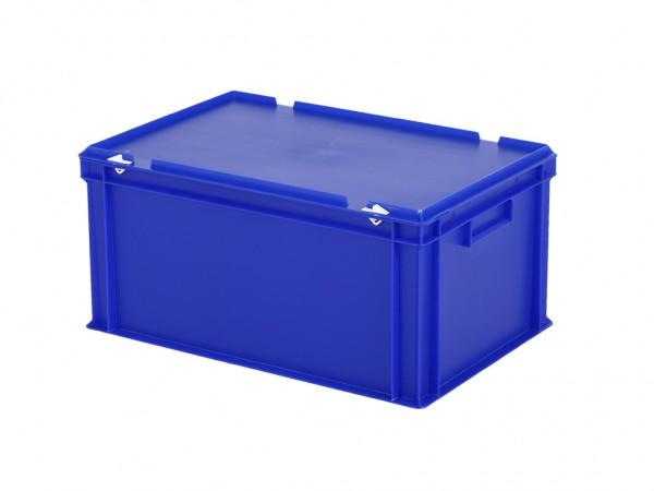 Stapelbak met deksel - 600x400xH295mm - blauw