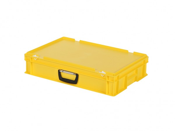 Koffer - 600x400xH135mm - geel