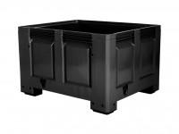 Palletbox - 1200x1000mm - op 4 poten - zwart 4401.100.930