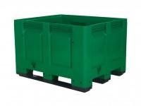 Palletbox - 1200x1000mm - 3 sledes - groen 4401.300.447